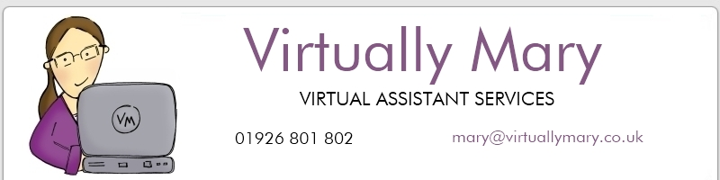 Virtually Mary virtual assistant services, Leamington, Warwickshire